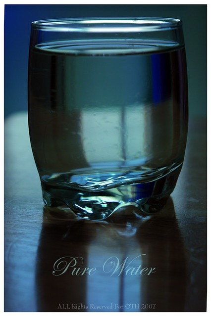 Pure water in clear glass.
